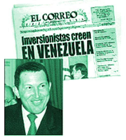 All the news that President Hugo Chavez wants printed will be found in El Correo del Presidente