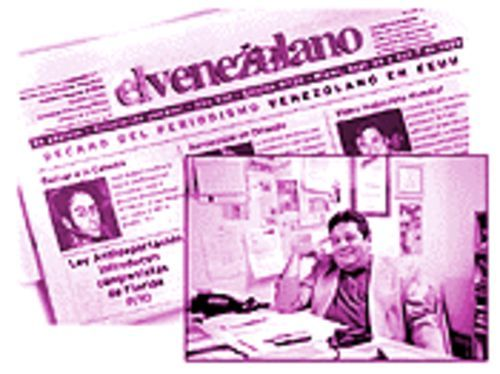 Oswaldo Muñoz's El Venzolano is the oldest and largest of the community's newspapers