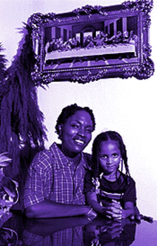 Former junkies Ronald Sippio (below) and Apryl Jenkins (with daughter Kayla) claim their dues