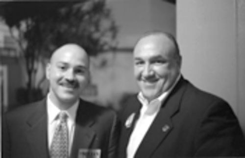 The man who would be State Attorney: Alberto Milian (left) with John Rivera
