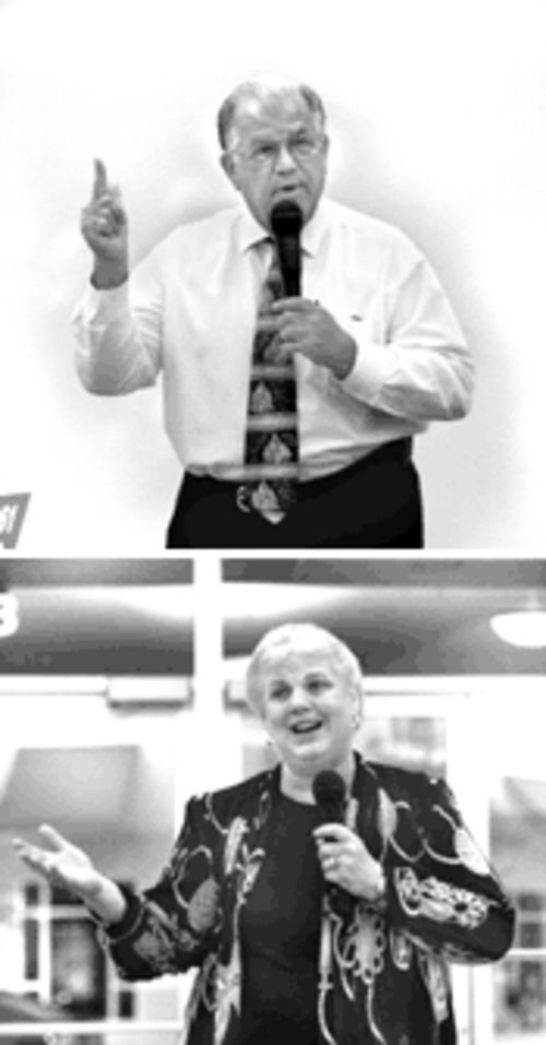 Frank Cobo (top) and Jacqueline Pepper (bottom) may be the declared candidates, but the phantom candidate is the school district itself