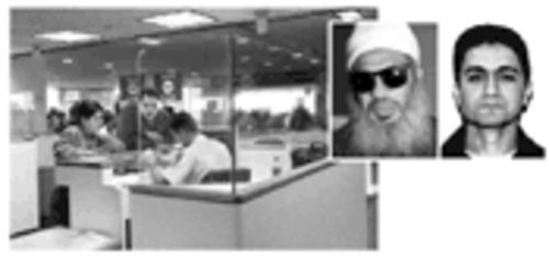 Immigrants sometimes negotiate with inspectors. Above are two who were successful: Sheik Omar Abdel Rahman and Mohamed Atta