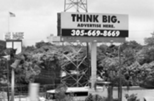Locally owned illegal billboard along I-195: Call today for rates!