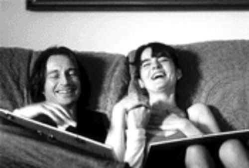 Robert Carlyle and Shirley Henderson: Two-thirds of a love triangle