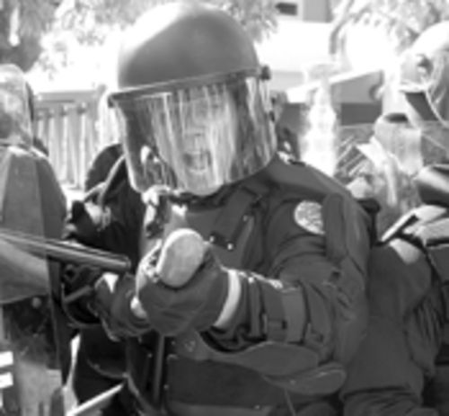 Downtown Miami, Thursday, November 20: This is what a police state looks like