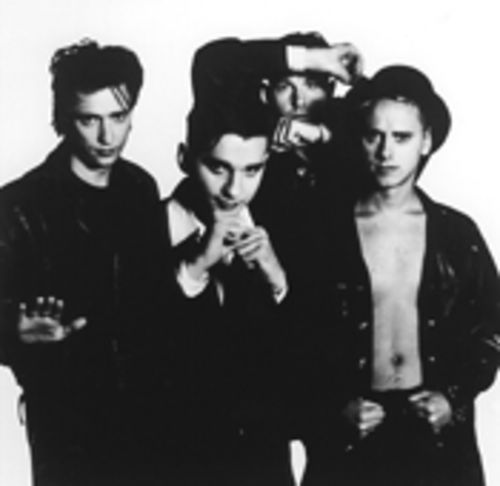 Depeche Mode feeds their cult: Alan Wilder (left),  Dave Gahan, Andy Fletcher, and Martin Gore