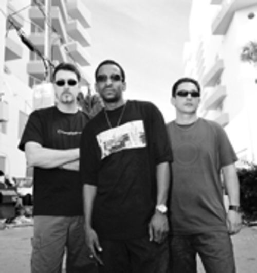 "Marc Pomeroy (left), John ""Julius"" Knight, and Brian  Tappert bring house music back to the area"