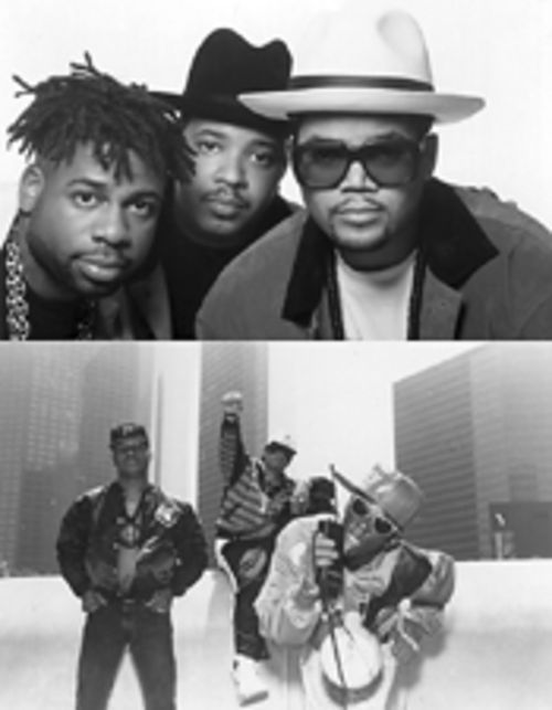 Roots of rap remembered: Run-D.M.C. (top) and  Public Enemy (bottom)