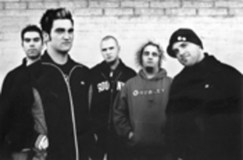 Hometown boys New Found Glory: Cyrus Bolooki (left), Jordan Pundik, Chad Gilbert, Ian Grushka, and Steve Klein