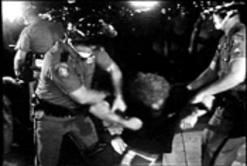 Miami Beach police arresting a protester at the 1972 GOP convention