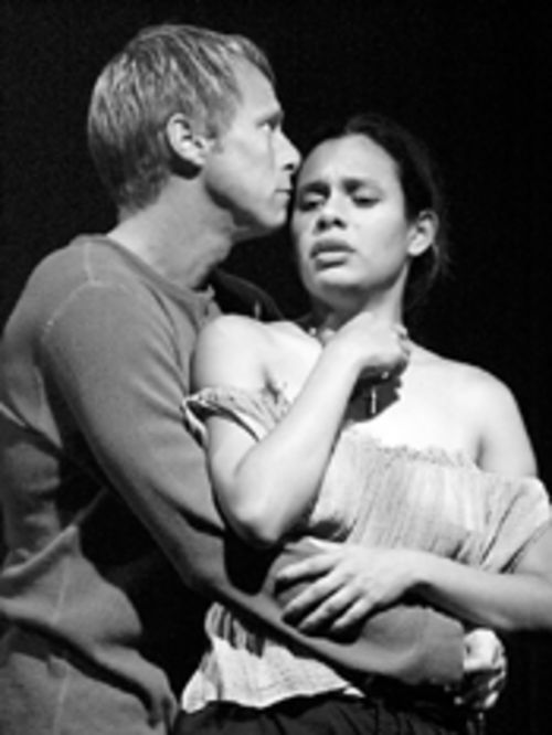 is this romance going anywhere?  John Baldwin and  Beatriz Montañez  in Barrio Hollywood