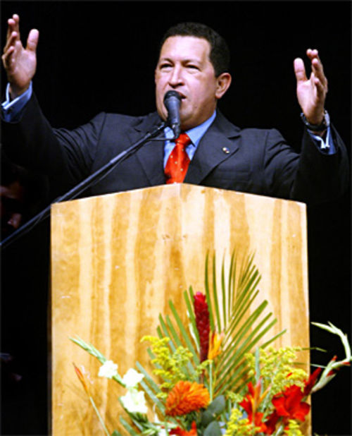 President Hugo Chávez is tied with Fidel Castro on Robert Alonso's list of most-hated world leaders