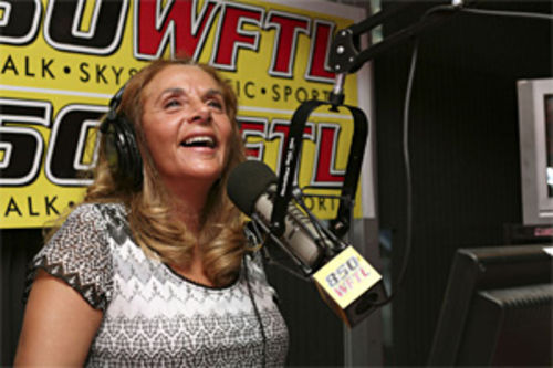 Joyce Kaufman, on the air, live and local
