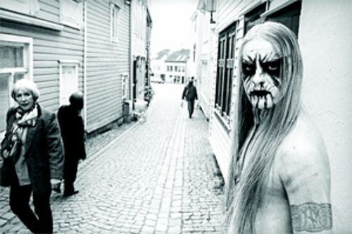 Peter Beste's 2002 portrait of Kvitrafn of Gorgoroth.