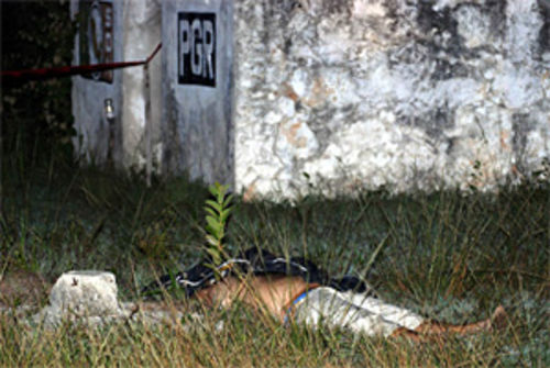 The bullet-riddled body of Luis Lázaro Lara Morejón was found next to an abandoned building near a site where law enforcers once incinerated confiscated drugs.