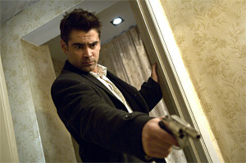 Colin Farrell: Shooting roaches is one way to deal with cabin fever.