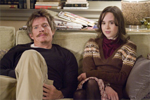 Thomas Haden Church and Ellen Page: Just a couple of couch-surfing stereotypes.