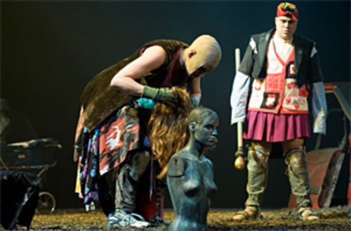The Beast, a Russian play, tells of thwarted love in  a postapocalyptic wasteland