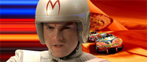 Emile Hirsch as Speed Racer: fast, not a blast.