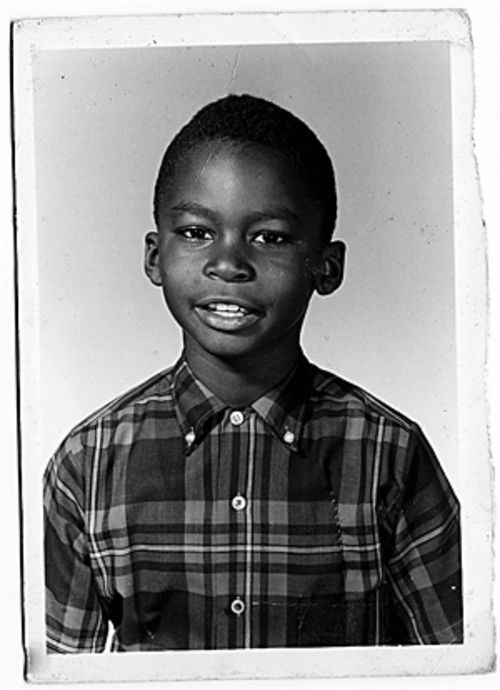 Cedric Robinson as a second-grader