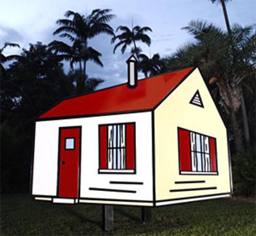Roy Lichtenstein's House II at Fairchild Tropical Botanic Garden.