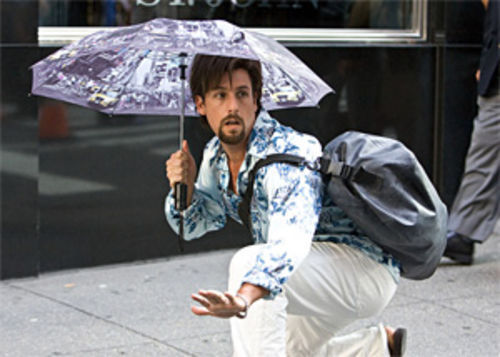 Adam Sandler as Zohan: Watch out for falling standards.