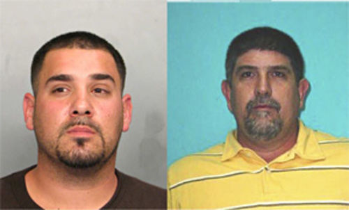 Ricky Valle (left) has yet to stand trial for his role in the murders of George Collazo and Michel Aleman. Accused kidnapper Cesar Morales (right) cut a deal to rat out Santo and other inmates.
