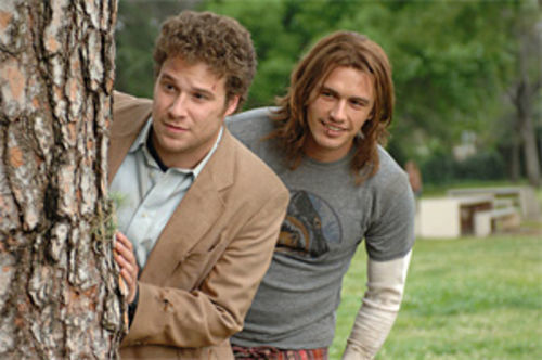 Seth Rogan and James Franco: Stoked.