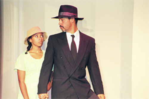 Alexandra Nimmons and Herman Carabali II in Joe Turner's Come and Gone.