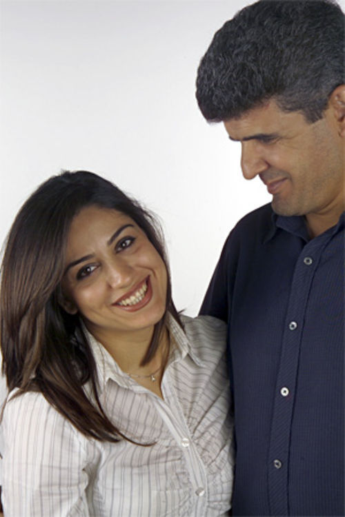 Shahrzad Mir Gholikhan with ex-husband Mahmoud Seif.