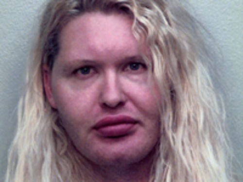 Donnie Hendrix after two weeks — and no estrogen — in Greenville County Jail.