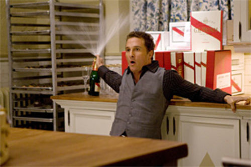 Matthew McConaughey pops his cork.
