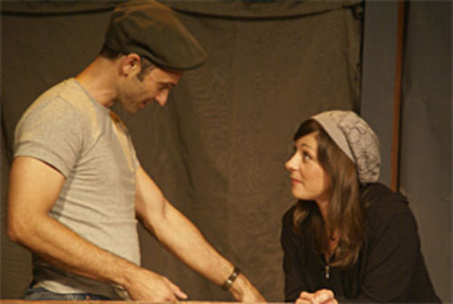 Israel Garcia and Michaela Cronan in New Theatre's Mauritius