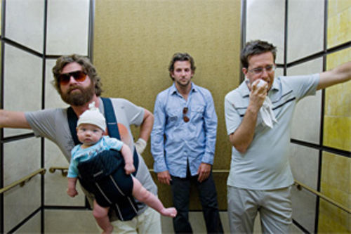 Zach Galifianakis (left), Bradley Cooper, and Ed Helms