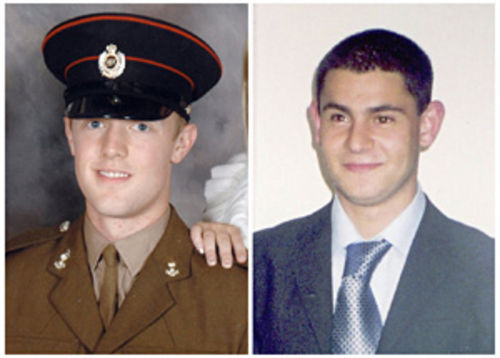 Mark Quinsey, age 23, and Patrick Azimkar, age 21, were killed in March by the Real IRA.