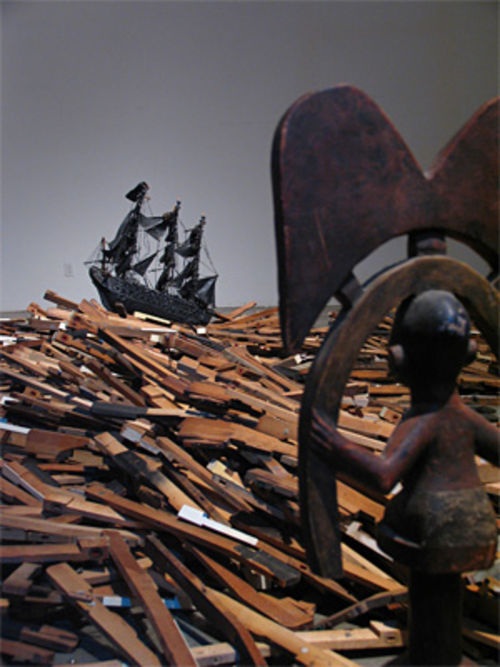 "Radcliffe Bailey's Storm at Sea at ""NeoHooDoo"""