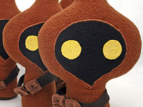 "Plus toys such as this Jawa by Cutesypoo will be available for sale beginning Saturday, July 18, at ""Stitch Wars."""