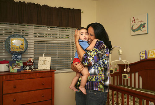 Wendy Senior had to move out of her dream home just before giving birth to her son, Seth.