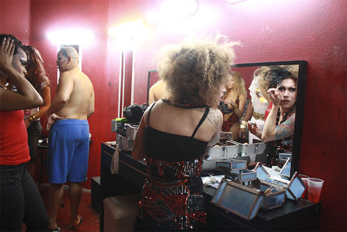 Drag queen Daisy Deadpetals prepares for a big show at Voodoo Lounge in Fort Lauderdale.