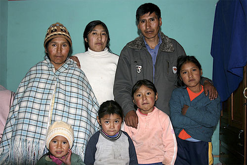Etelvina and Eloy with their children.