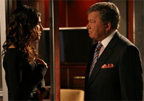 Remember the name: Boston Legal's Denny Crane  (William Shatner, with Lake Bell)