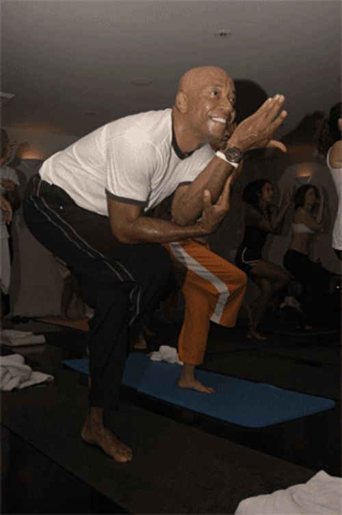 Russell Simmons gets physical