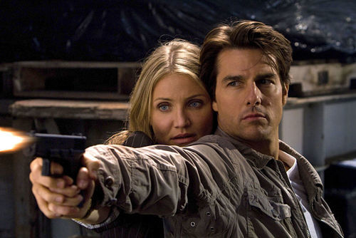 Cameron Diaz and Tom Cruise in Knight and Day.