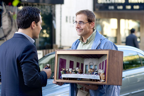 Paul Rudd and Steve Carell in Dinner for Schmucks.