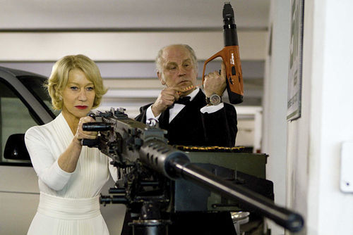 Helen Mirren and John Malkovich in Red