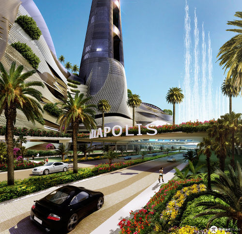 Artist's rendering of Miapolis, a proposed project in downtown Miami.