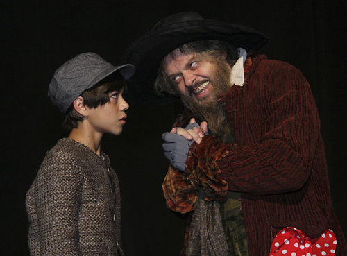 Cruz Santiago stars as Oliver with Gary Marachek as Fagin