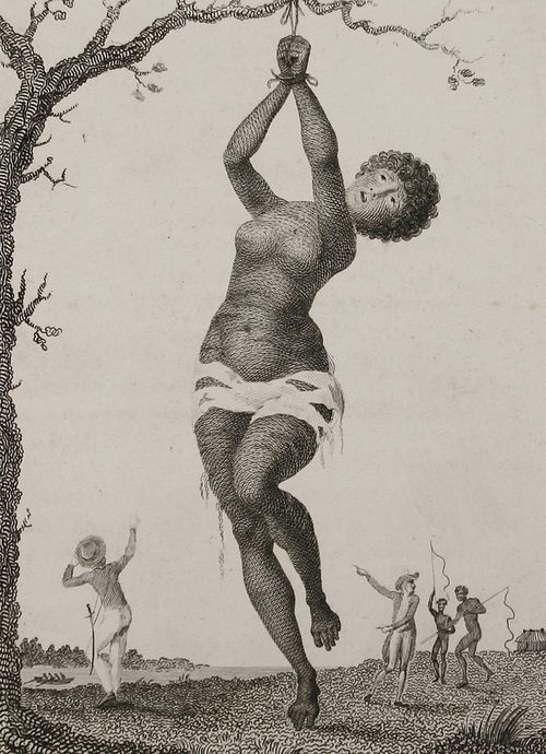 A portrayal of slaves by William Blake.