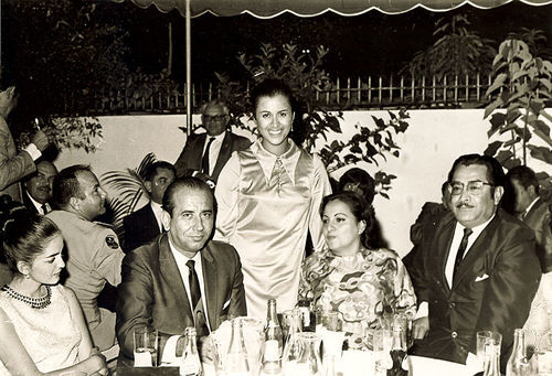 Cecilia Matos (center) met Carlos Andrés Pérez  at this party when she was 18 years old.