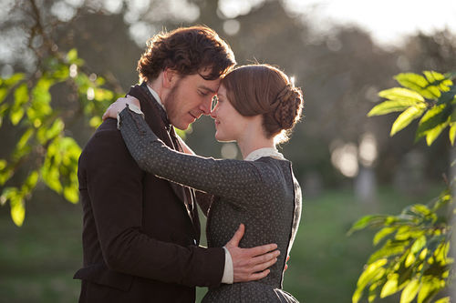 Michael Fassbender and Mia Wasikowska in Jane Eyre.